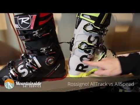Rossignol AllTrack vs AllSpeed alpine boots.