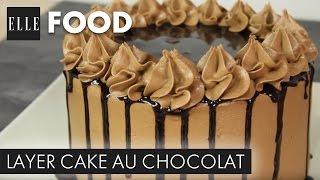 Recette : Layer Cake Au Chocolat (avec L'atelier De Roxane)┃ELLE Cuisine