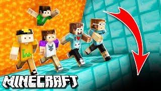 JUMP TO ESCAPE DEATH IN MINECRAFT! The Pals Escape The Lava Wall! (Super Lava Run)