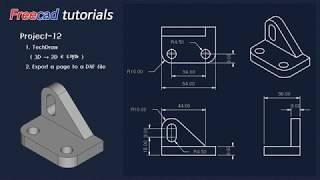 [무료캐드, freeCAD, no license cad ] 13. Part modeling - Project 12 ( export DXF )