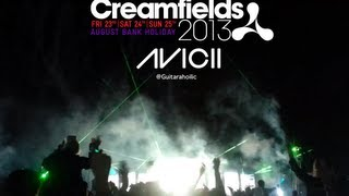 Avicii live at Creamfields 2013. Encore : Levels, Wake Me Up & Lay Me Down