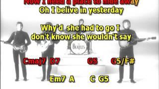 Yesterday Beatles mizo vocals lyrics chords
