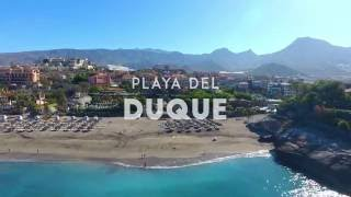 Playa del Duque  (Adeje) desde el aire.
