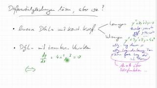 Differentialgleichung mit Störfunktion, Beispiel, Mathematik ...