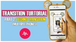Musical.ly/Tiktok Transition Tutorial | MULTIPLE PHONES TECHNO TRANSITION