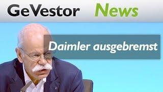 Daimler ausgebremst! Dieter Zetsches letzte Bilanz enttäuscht