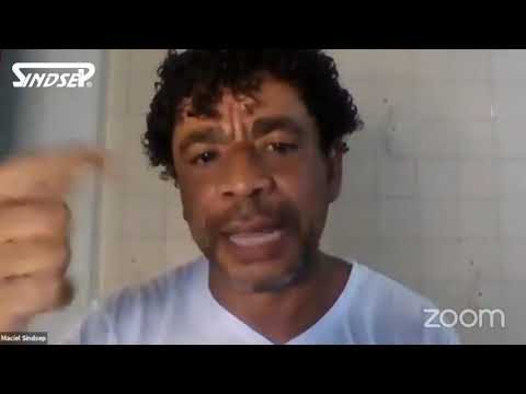 Maciel Nascimento fala na live das entidades da educação sobre a organização da greve