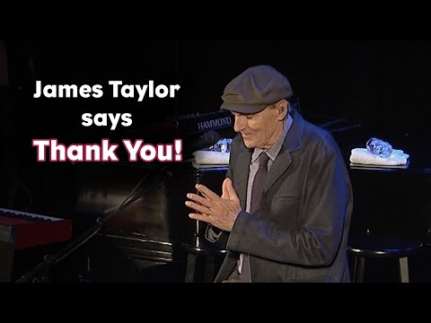 James gives thanks…
