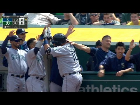 5/4/16: Lee, Cruz power Mariners past the A's, 9-8
