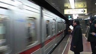 東京地下鐵日比谷線東武20050系進站(日比谷)