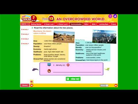 Tiếng Anh 7 tập 2 _ SHS - Unit 12 AN OVERCROWDED WORLD - Communication