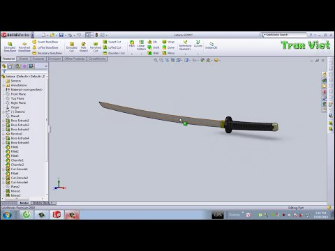 SolidWorks Tutorial : Katana - SolidWorks Tutorial for