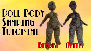 Crochet Doll Finishing Touches: Sewing The Body | Doll Body Types