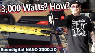 3,000 Watts? HOW? Soundigital NANO 3000.1D Amplifier Tested + the Guts