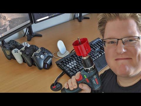 Pimp my Schreibtisch: Controller-Station und USB im Tisch