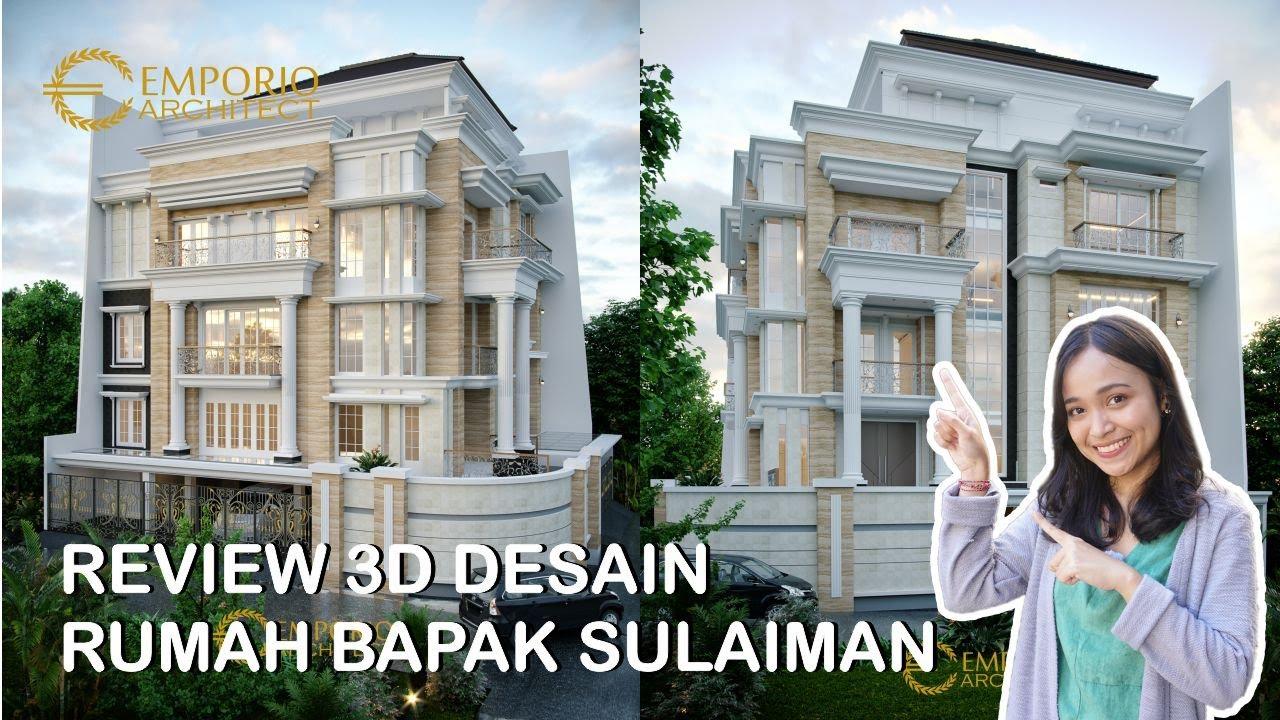 Video 3D Desain Rumah Hook Classic 3.5 Lantai Bapak Sulaiman di Bandung, Jawa Barat