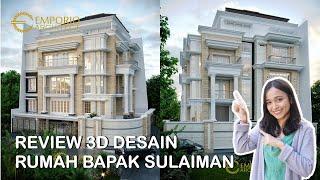 Video Desain Rumah Hook Classic 3.5 Lantai Bapak Sulaiman di  Bandung, Jawa Barat