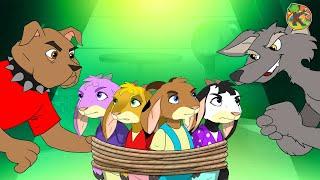 Волк и семеро козлят на ферме 1 серия   KONDOSAN На русском смотреть сказки для детей   мультфильмы