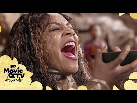 Tiffany Haddish Challenges Prince T'Challa For The Throne   2018 MTV Movie & TV Awards
