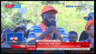 Crowd stopped Raila's speech, demanded that he fights for reduction of price of unga