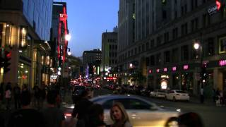 preview picture of video 'Montreal 2010 - Downtown at Night - Again'