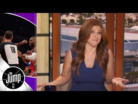 Rachel Nichols recaps Lakers vs Rockets brawl featuring CP3, Rondo, Ingram & more | The Jump
