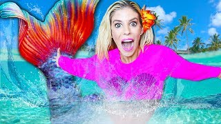 I Became a MERMAID For A Day! (New Game Master clues in WORST 24 Hour Challenge) | Rebecca Zamolo