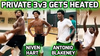 Antonio Blakeney & Niven Hart GO AT IT In Private Workout! Intense 3v3 With LOTS Of Trash Talk 🍿