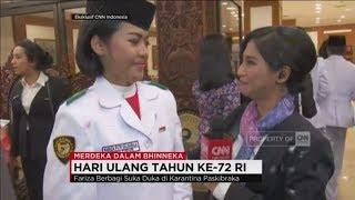Fariza Putri Salsabila, Tangis Haru Pembawa Baki Bendera ; Merdeka Dalam Bhinneka, Paskibraka 2017