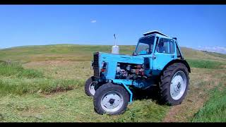Сенокос 2018! Заготовка сено для КРС! Трактор мТз + КРР-1.85
