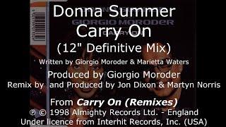 "Donna Summer - Carry On (12"" Definitive Mix) LYRICS - SHM ""Carry On (Remixes)"" 1998"