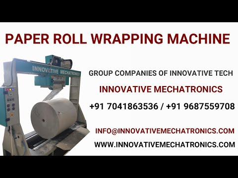 Paper Roll Stretch Wrapping Machine