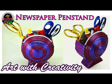 Newspaper Penstand | Newspaper Basket | handmade | DIY | Art with Creativity 146