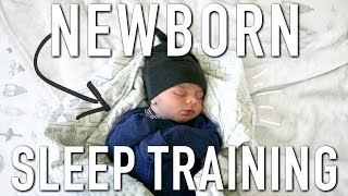 HOW TO SLEEP TRAIN YOUR NEWBORN || No Crying + Feeding on Demand Method