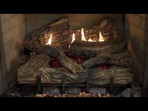 Superior Fireplaces - Smokey Mountain Gas Logs Burn Video