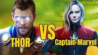 Thor vs Captain Marvel in Avengers 4 and Avenges Infinity war Hindi
