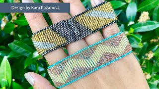 Hybrid Bracelet Tutorial | Peyote Stitch + Loom | Beaded Bracelet