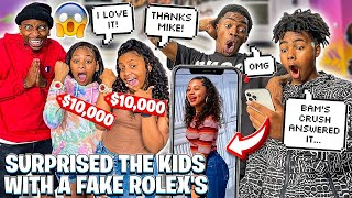 SURPRISED THE KIDS WITH FAKE ROLEX'S & BAM ASKED HIS NEW CRUSH TO BE HIS GIRLFRIEND!