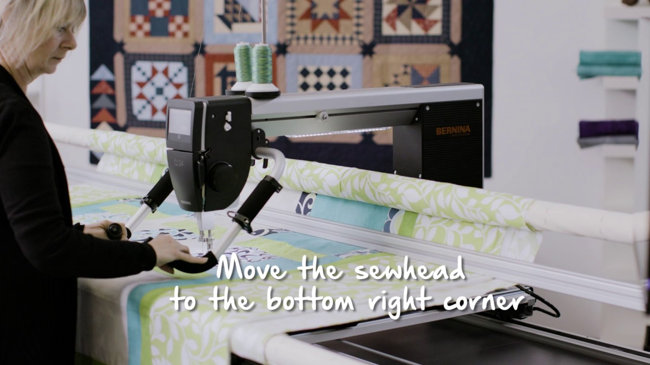 BERNINA Q-matic Video Tutorial: Set Safe Area