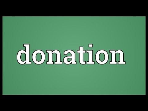 Donation Meaning