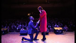 SURPRISE Engagement At SOLD OUT Concert!   Brian Nhira