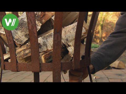 Holz für den Feuerkorb - Wie man das perfekte Feuer macht!
