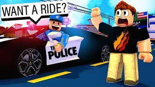 COP GAVE ME A RIDE in HIS LAMBO! Roblox Jailbreak