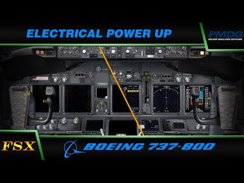 PMDG 737 NGX:  1. Electrical Power Up