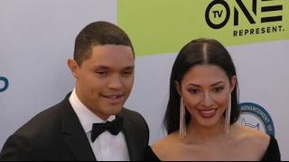 TREVOR NOAH brings girlfriend JORDYN TAYLOR to NAACP Image Awards