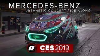 CES 2019: An autonomous ride in the Mercedes-Benz Urbanetic Concept | Las Vegas Strip
