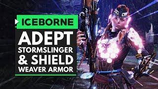 Monster Hunter World Iceborne | Crazy New Adept Stormslinger Bowgun Mod & Shield-Weaver Armor