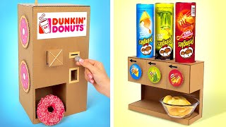 How to Make Awesome Donuts And Pringles Dispensers || DIY Cardboard Project