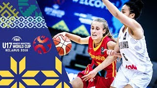 New Zealand v Spain - Full Game - FIBA U17 Women's Basketball World Cup 2018 | Kholo.pk