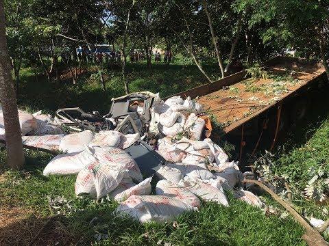 Motorista morre esmagado por carga de adubo em Arandu
